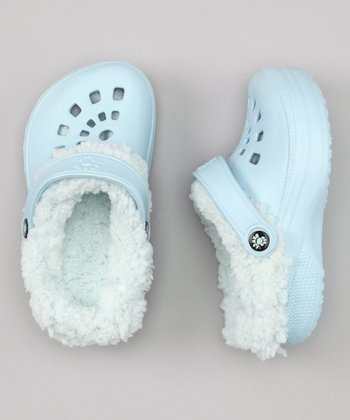 Baby Blue Fleece-Lined Clog
