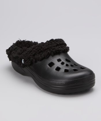 Black Fleece Clog - Women