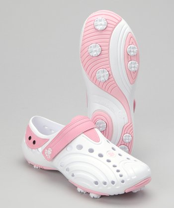 White & Soft Pink Spirit Golf Shoe - Women