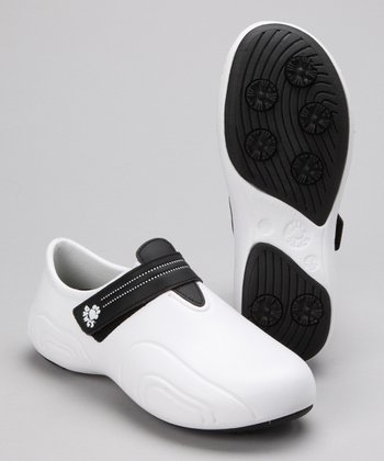 White & Black Ultralite Golf Shoe
