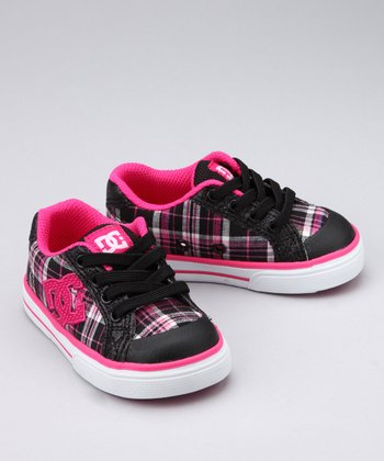 Crazy Pink & Black Plaid Sneaker