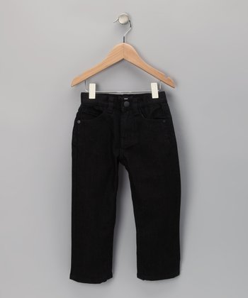 Black Amity Straight-Leg Jeans - Toddler & Boys