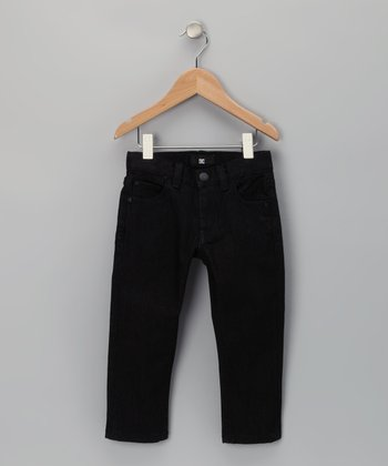 Black Houston Slim Fit Jeans - Toddler & Boys