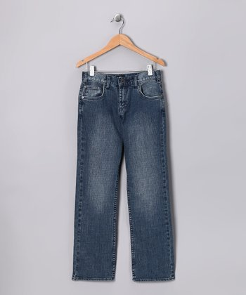 DC Distressed Indigo Straight Jeans - Toddler & Boys