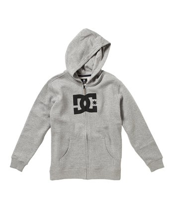 Gray 'DC' Zip-Up Hoodie - Toddler & Boys