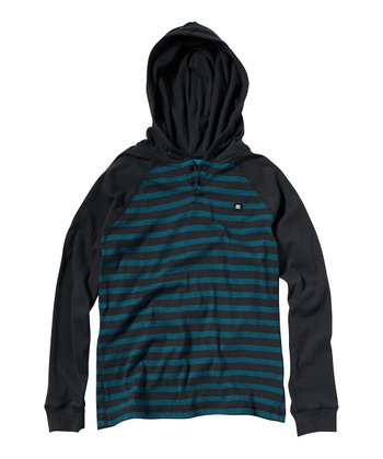Black Plaid Copious Hoodie - Boys