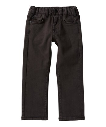 Black Straight-Leg Jeans - Toddler & Boys