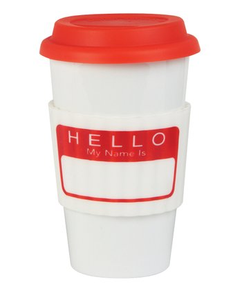 'Hello My Name Is' Eco Cup