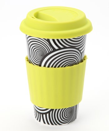 Yellow & Black Swirl Eco Cup