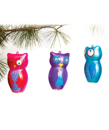 Owl Ornament Set