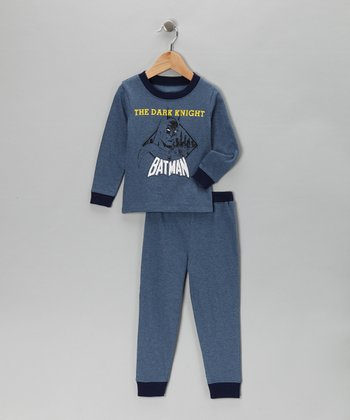Dark Blue 'Dark Knight' Pajama Set - Infant