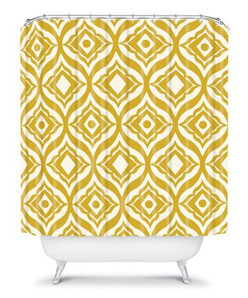 Yellow Trevino Shower Curtain