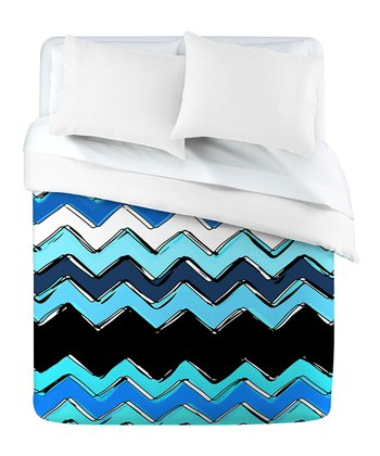 Ocean Chevron Duvet Cover