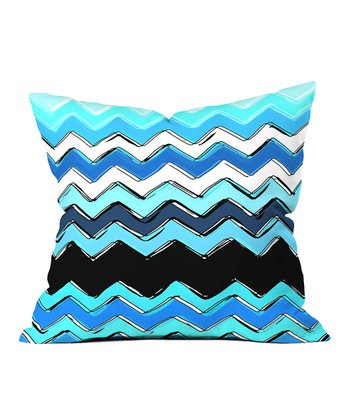 Ocean Chevron Throw Pillow