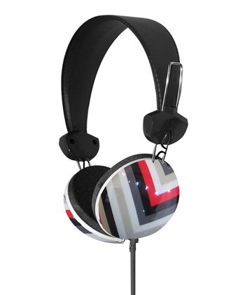 Red & Black Geometrix Stereo Headphones