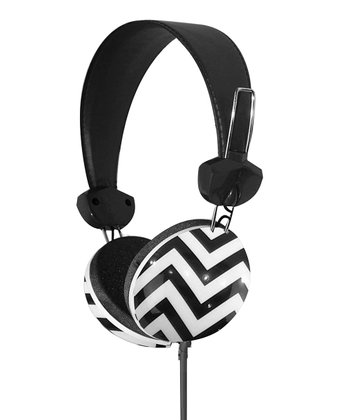 Black & White Geometrix Stereo Headphones