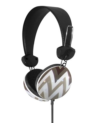 Gray Geometrix Stereo Headphones