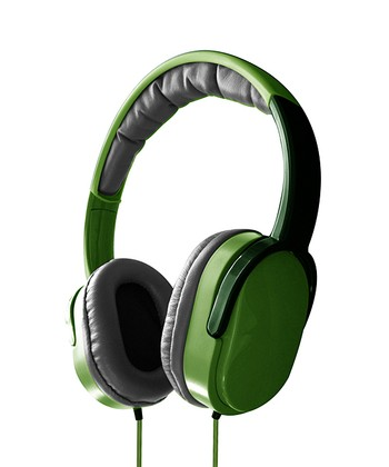 Green Overhead Stereo Headphones