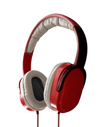 Red Overhead Stereo Headphones