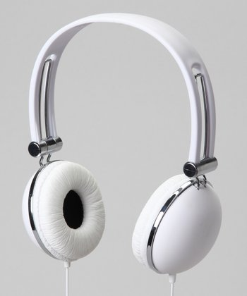 Vibe White Soft Touch Stereo Headphones