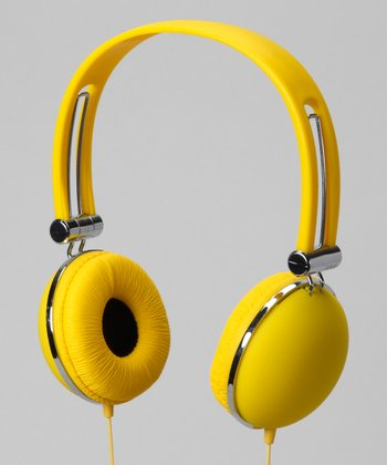 Vibe Yellow Soft Touch Stereo Headphones
