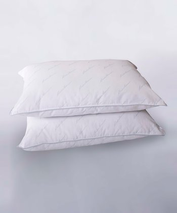 White Eddie Bauer Jumbo Hypoallergenic Pillow - Set of Two