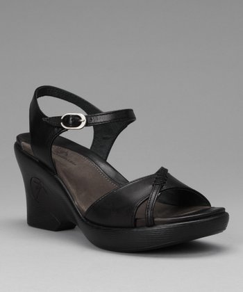 Black Malika Wedge Sandal