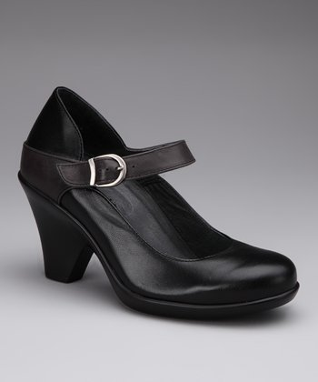 Black & Mink Nadia Mary Jane Pump
