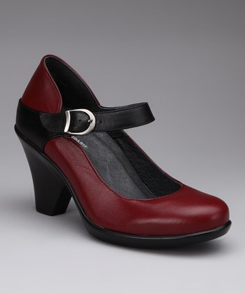 Garnet & Black Nadia Mary Jane Pump
