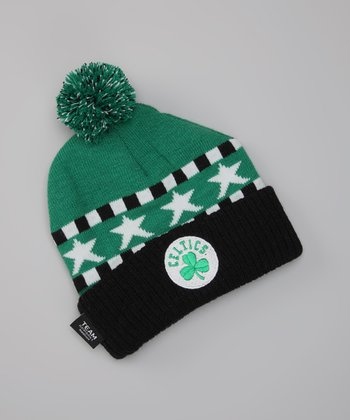 Green 'Celtics' Knit Earflap Beanie