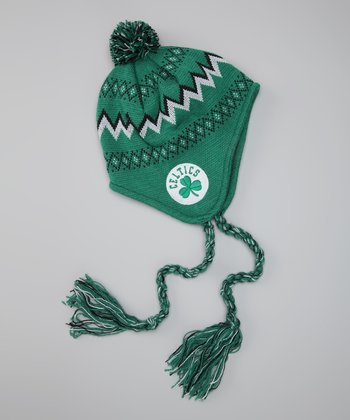Green Celtics Knit Earflap Beanie - Toddler & Kids