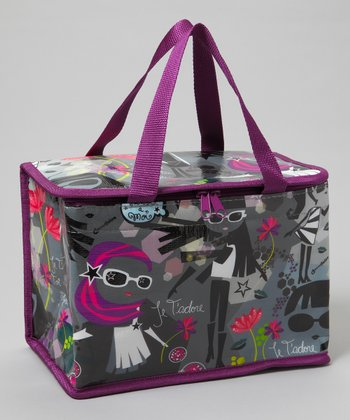 Gray & Purple Lunch Bag