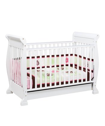 White Anastasia Convertible Crib & Twilight Mattress