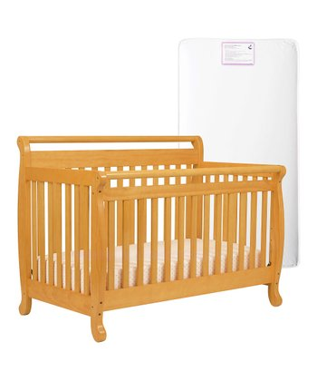 Natural Lily Convertible Crib & Mattress