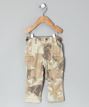 Camo Silk Cargo Pants - Infant