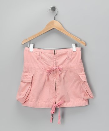 Candy Pink Double Bow Skirt - Girls