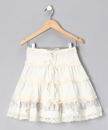 Birch Floral Tiered Skirt - Girls