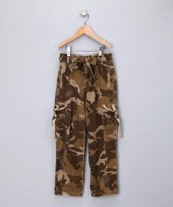 Camo Brown Cargo Pants