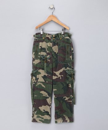 Leaf Camo Cargo Pants - Girls