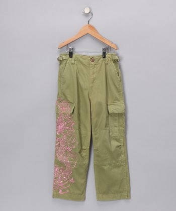 Moss Green Dragon Pants