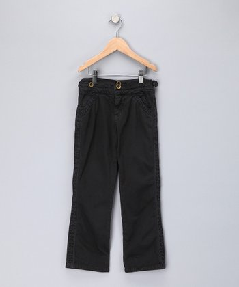 Black Twill Pants - Girls