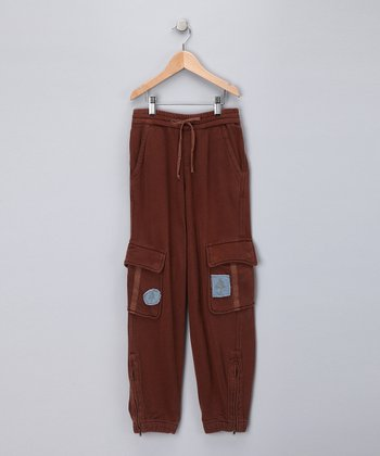 Taupe Tree 'Wild' Cargo Pants - Girls