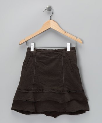 Carob Ribbon Skirt - Girls