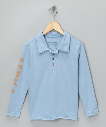 Light Blue 'Africa' Surplus Polo - Girls
