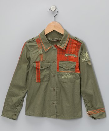 Mountain Military Button-Up - Girls