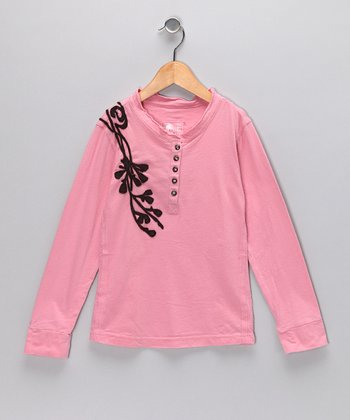 Carnation Branch Henley - Toddler & Girls