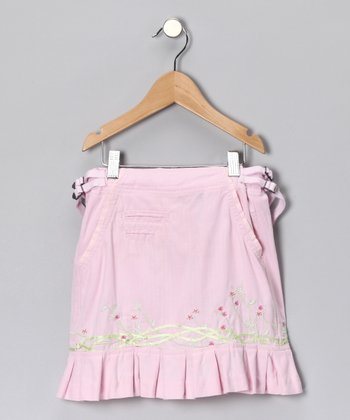 Crocus Floral Silk-Blend Skirt - Girls
