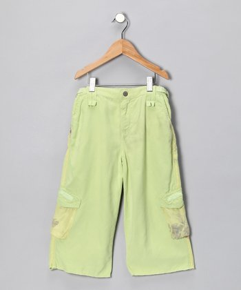 Apple Silk-Blend Bermuda Shorts - Girls