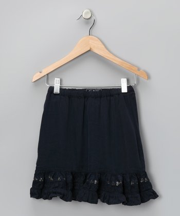 Bijou Sequin Silk-Blend Skirt - Toddler & Girls