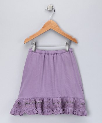 Princess Sequin Silk-Blend Skirt - Toddler & Girls